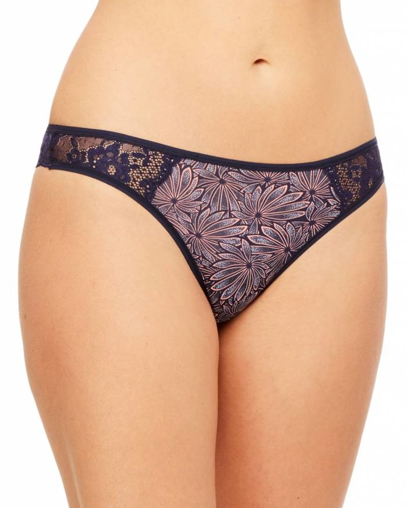 Montelle LOW RISE LACE CHEEKY THONG - LILIES