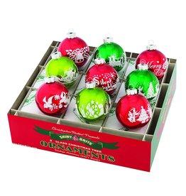Christopher Radko Shiny Brite Holiday Splendor Ornaments Flocked 2.5in
