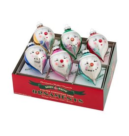 Christopher Radko Shiny Brite Ornaments 3.25in Smiling Figures 6ct