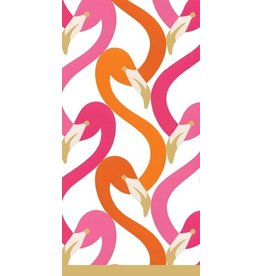 Caspari Paper Facial Tissues Hankies 10pk Flamingo Flock Fushia