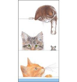 Caspari Paper Facial Tissues Hankies 10pk Kitties