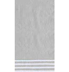Caspari Paper Guest Napkins 9009G Silver