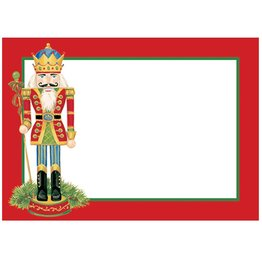 Caspari Name Tags Self Adhesive Labels 12pk Christmas Nutcracker