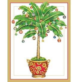 Caspari Caspari Boxed Christmas Cards 16pk Ornamented Palm