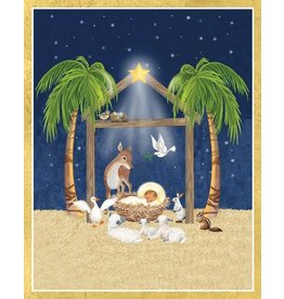 Caspari Boxed Christmas Cards Set of 16 Creche Scene w Baby Jesus