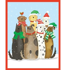 Caspari Boxed Christmas Cards Set of 16 Dogs in Snow