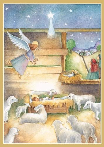 Caspari Christmas Cards.Caspari Boxed Christmas Cards Set Of 16 Nativity