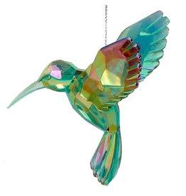 Kurt Adler Acrylic Hummingbird Ornament Green T1509-B