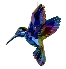 Kurt Adler Acrylic Hummingbird Ornament Purple T1509-C