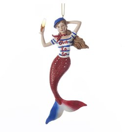 Kurt Adler Mermaid Ornament France -French International Mermaid