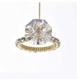 Kurt Adler Shiny Diamond Ring Christmas Ornament 3.15 inch