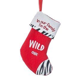 Kurt Adler In Our Family Im The WILD One Mini Christmas Stocking 6 inch