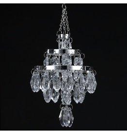 Kurt Adler Mini Chandelier Faux Crystal Beads Ornament 2.75 inch