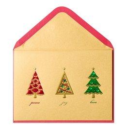 Papyrus Greetings Christmas Card Christmas Tree Trio