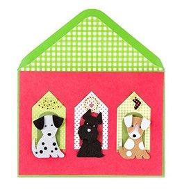 PAPYRUS® Christmas Card Decorated Dog Houses