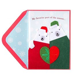 Papyrus Greetings Christmas Card Ornaments Polar Bears in Sweaters