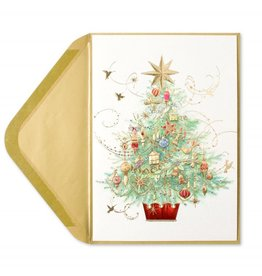 Papyrus Greetings Christmas Card Embellished Tree