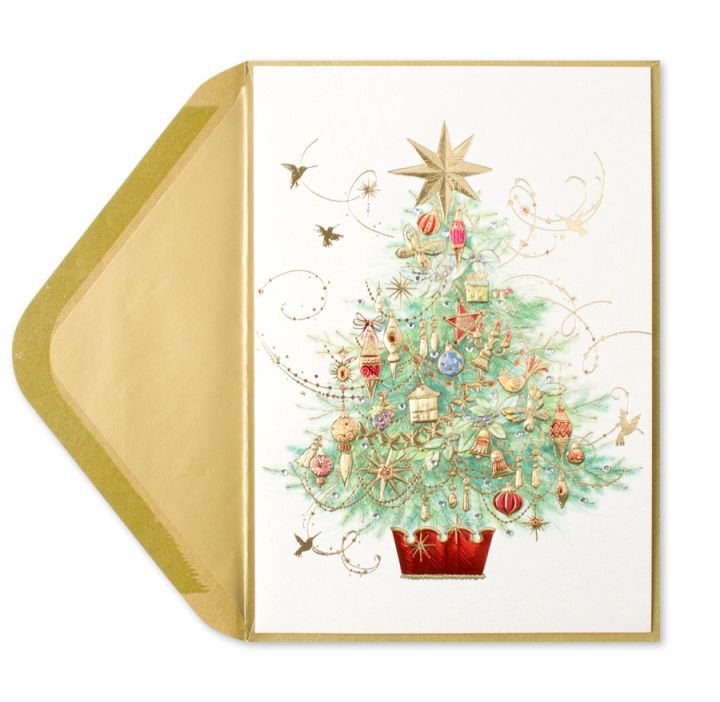 Papyrus Greetings Christmas Card Embellished Tree - Digs N Gifts