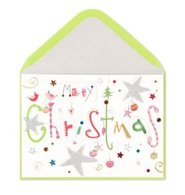 Papyrus Greetings Christmas Card Whimsey Merry Christmas Text