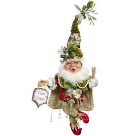 Mark Roberts Fairies Elves Mistletoe Mischief Elf SM 10 inch