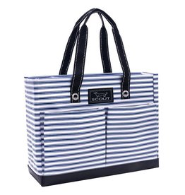 Scout Bags Uptown Girl Tote Bag Zip w Pockets - Stripe Right