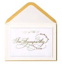 Papyrus Greetings Sympathy Card In Sympathy Embossed Lettering