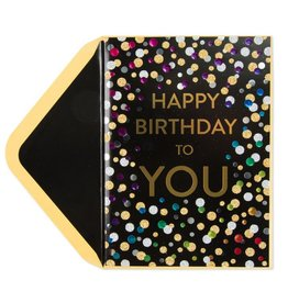 Papyrus Greetings Birthday Card Confetti Happy Birthday To You