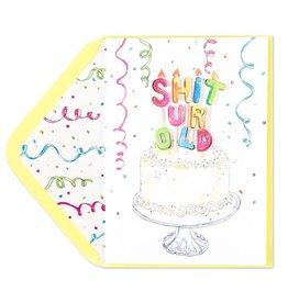 Papyrus Greetings Birthday Card Shit U R Old