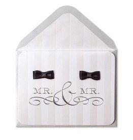 Papyrus Greetings Wedding Card Gay Wedding Mr and Mr Groom Bow Ties