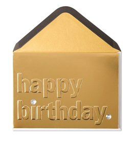 Papyrus Greetings Birthday Card Classic Fancy Gold Birthday
