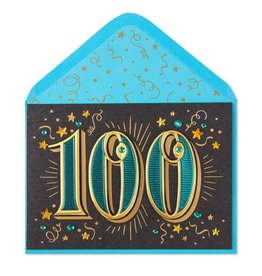 Papyrus Greetings Birthday Card 100th With Stars