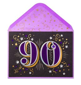 PAPYRUS® Birthday Card 90th With Stars