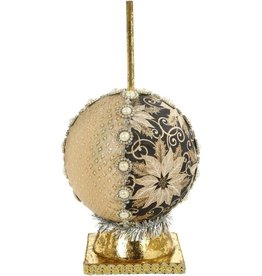 Mark Roberts Fairies Ornamental Ball Stand 7 inch Black-Gold