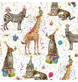 Caspari Gift Wrapping Paper - Party Animals Roll 5ft