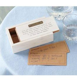 Mud Pie Prayer Box Set Wood w Gold Metal Accent and Printed Poem