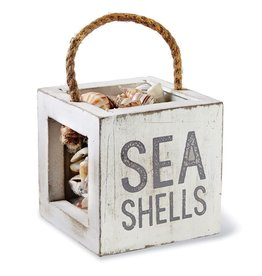 Mud Pie Sea Shells Box w Sea Shells
