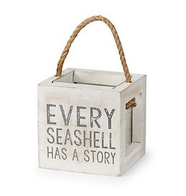 Mud Pie Sea Shells Box w Every Seashell Has A Story