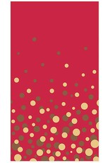 Papyrus Christmas Guest Towel Napkins 15pk Simple Dot Gold Foil on Red