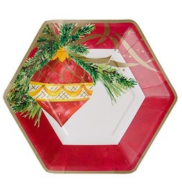 Papyrus Paper Salad-Dessert Plates 8pk - Ornaments On Christmas Tree