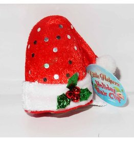 DM Merchandising Mini Santa Elf Christmas Hat Hair Clip - B
