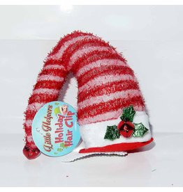 DM Merchandising Mini Santa Elf Christmas Hat Hair Clip - A