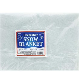 Darice Artifical Snow Blanket 32x47 inch Decorative White Blanket