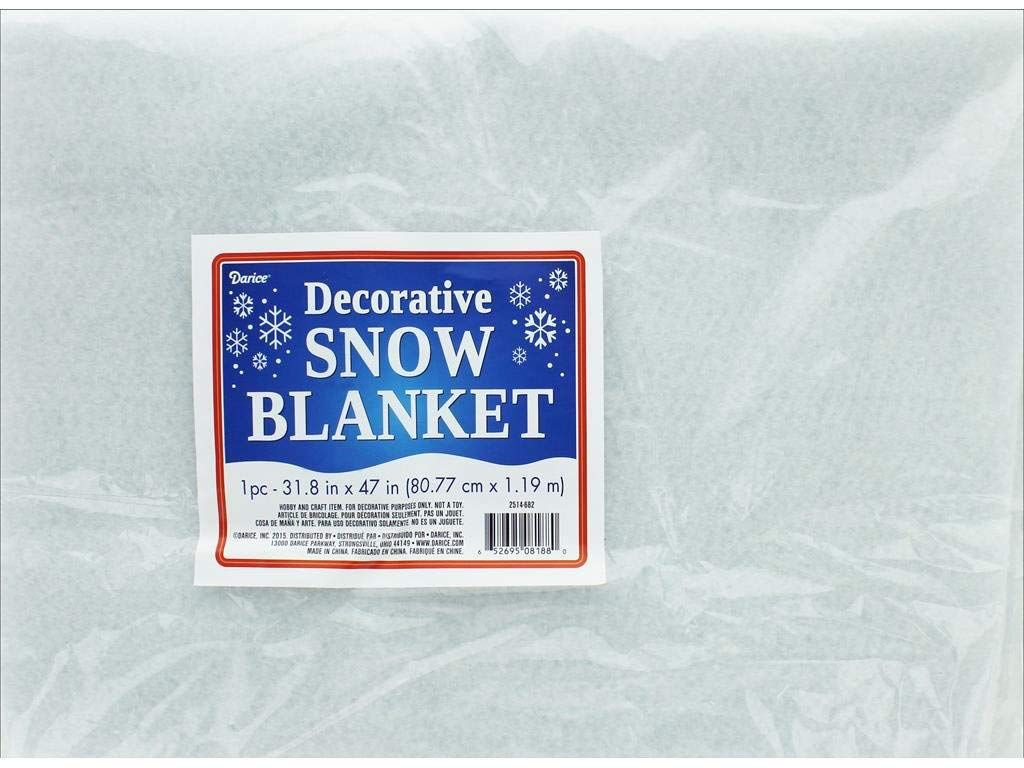 Darice Artifical Snow Blanket 32x47 inch Decorative White Blanket