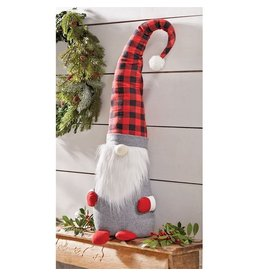 Mud Pie Christmas Gnomes Large Buffolo Check Gnome 31 inch