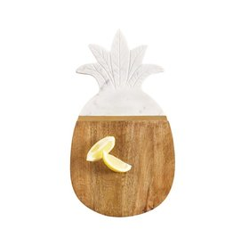 Mud Pie Pineapple Marble AND Wood Serving Board 16x9