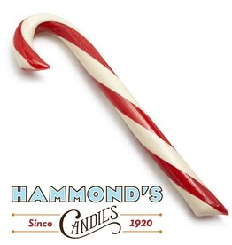 Hammonds Candies Peppermint Candy Cane Lg Big 2oz 8L x.75D