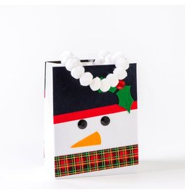 Papyrus Christmas Gift Bag Medium 7x9x4 Felt Snowman