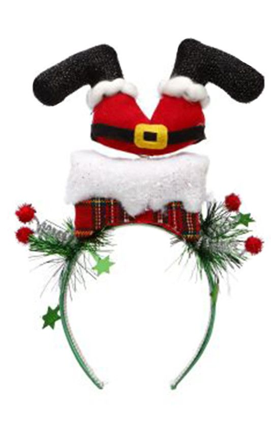 Mark Roberts Christmas Decorations Christmas Hat Headband w Santa Legs