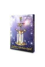 KNOX Christmas Angels Light Bells Pyramid Chimes w Candles