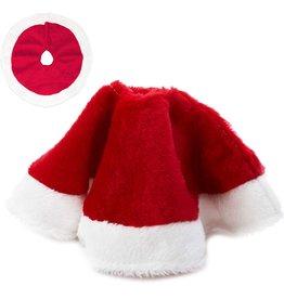 Kurt Adler Christmas Tree Skirt Miniature Red Plush White Border C1886